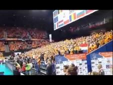 Dutch anthem in Ahoy Arena