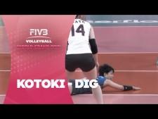 Kotoki Zayasu unbelievable dig (Brazil - Japan)
