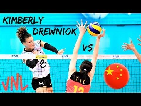 Kimberly Drewniok in match Germany - China