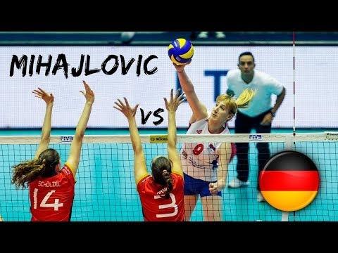 Brankica Mihajlović in match Germany - Serbia