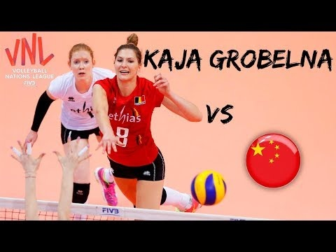 Kaja Grobelna in match China - Belgium