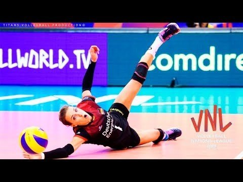 Lenka Dürr (Libero) BEST Volleyball Actions DIGS SAVES 2018