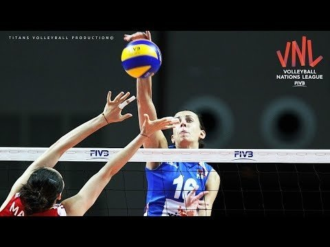 TOP 10 Fantastic Volleyball Spikes by Milena Rasic | Women's