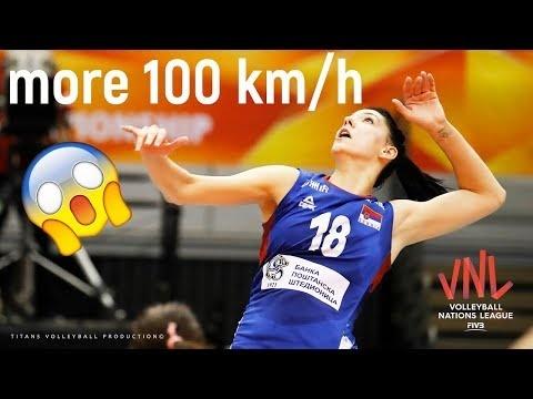 Tijana Boskovic more 100 km/h spikes in VNL 2018