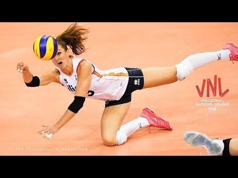 TOP 10 Surprisingly points scored in Women VNL 2018