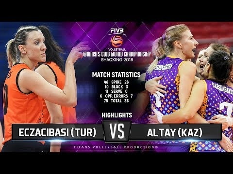Eczacibaşi Istanbul - Altay VC (Highlights)