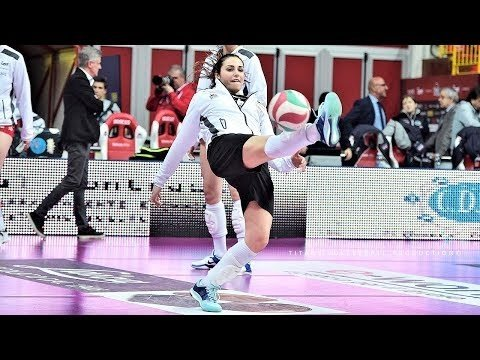Football SAVES in Women's Volleyball