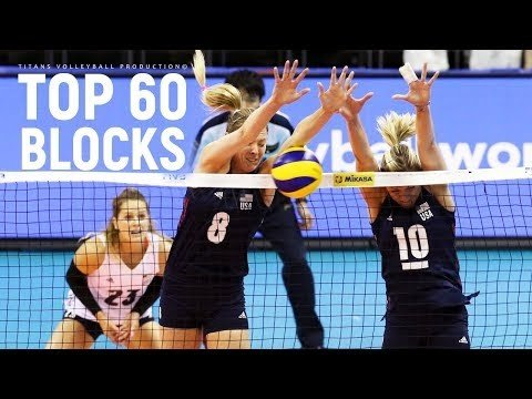 TOP 60 BEST Women's Volleyball Block's | VNL 2018