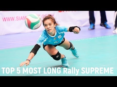 TOP 5 MOST LONG Rally Supreme Team (Thailand) on Women's Clu