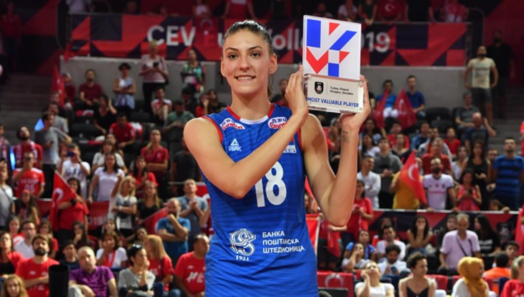 Tijana Bošković is the MVP CEV EuroVolley 2019